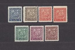 Czechoslovakia 1929 MNH ** Mi 277-282 Sc 152-157 State Shield. C5 - Czechoslovakia