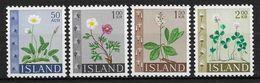 Islande 1964 N° 336/339  Neufs ** MNH Fleurs - 1944-... Republique