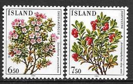 Islande 1984 N° 572/573 Neufs Fleurs - 1944-... Republik