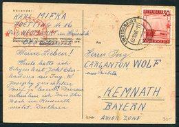 1946 Austria Censor Postcard - Kemnath Germany - 1945-.... 2nd Republic