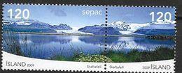 Islande 2009 N°1176/1177 Neufs** SEPAC Paysages Du Vatnajökull - 1944-... Republik