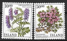 Islande 1988 N° 642/643 Neufs Fleurs - 1944-... Republik