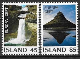 Islande 1977 N° 475/476 Neufs ** MNH Europa Paysages - 1944-... Republik