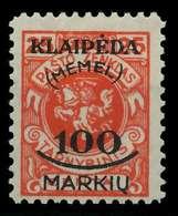 MEMEL 1923 Nr 127 Ungebraucht X88627E - Memelgebiet