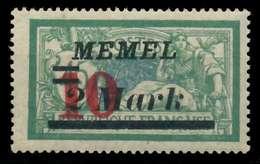 MEMEL 1923 Nr 121 Ungebraucht X886282 - Memel (Klaïpeda)