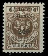 MEMEL 1923 Nr 140 Ungebraucht X886286 - Memel (Klaïpeda)