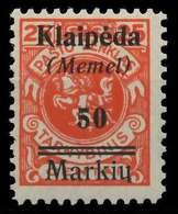 MEMEL 1923 Nr 131 Ungebraucht X886296 - Memel (Klaïpeda)