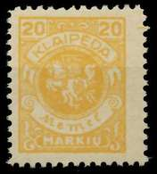 MEMEL 1923 Nr 142 Ungebraucht X8862B6 - Memel (Klaïpeda)