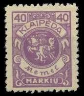MEMEL 1923 Nr 144 Ungebraucht X8862C2 - Memel (Klaïpeda)