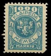 MEMEL 1923 Nr 150 Postfrisch X8862CA - Memel (Klaïpeda)