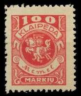 MEMEL 1923 Nr 146 Ungebraucht X8862CE - Memel (Klaïpeda)