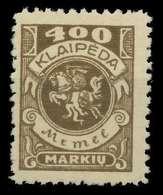 MEMEL 1923 Nr 148 Ungebraucht X8862D2 - Memel (Klaïpeda)