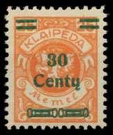 MEMEL 1923 Nr 224 Ungebraucht X886306 - Memel (Klaïpeda)