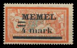 MEMEL 1920 Nr 31 Iy Ungebraucht X8863F2 - Memel (Klaïpeda)