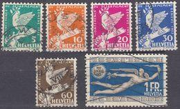 HELVETIA - 1932 - Serie Completa Di 6 Valori Usati: Yvert 254/259. - Svizzera