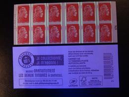 2019  CARNET MARIANNE L'ENGAGÉE ROUGE DATE 15.02.19 EN POSITION CENTRALE JE COLLECTIONNE JE M'ABONNE VARIÉTÉ - Carnets