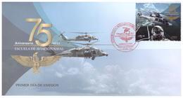 2018 MÉXICO FDC 75 Aniv. Escuela De Aviación Naval MNH 75th Anniv Of The Naval Aviation School, NAVY HELICOPTER EAGLE - México