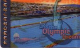 TARJETA TELEFONICA DE AUSTRALIA (PREPAGO). (IMAGEN MOVIBLE - 3D). Living The Olympic Dream - Ian Thorpe. 9900043PA (012) - Juegos Olímpicos