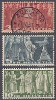 HELVETIA - 1938 - Serie Completa Di 3 Valori Usati: Yvert 313B, 314A, 315A. - Svizzera