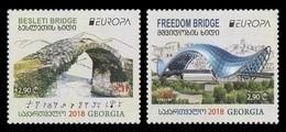 Georgia 2018 Mih. 711/12 Europa-Cept. Bridges MNH ** - Georgia