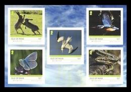 Isle Of Man 2019 Mih. 2460/64 Isle Of Man Wildlife. Fauna. Hares. Butterflies. Birds (self-adhesive) MNH ** - Man (Insel)