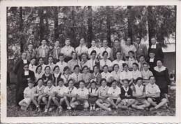 SCOUTISME - Photo Originale Format 11,4 X 16,5 Cm - Troupe De Scouts Avec Religieux - Scoutismo