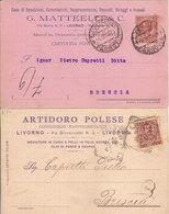 (C).Livorno.Lotto 2 Cartoline Commerciali Pubblicitarie.F.to Piccolo.Viaggiate (216-a17) - Livorno