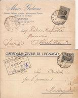 (C).Legnago(VR).Lotto Di 2 Cartoline Commerciali Intestate (17-a18) - Verona