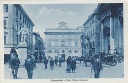 CIVITAVECCHIA-ROMA-PIAZZA VITTORIO EMANUELE-ANIMATISSIMA-CARTOLINA NON VIAGGIATA ANNO 1920-1930 - Civitavecchia