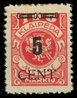 MEMEL 1923 Nr 188 Ungebraucht X89C85A - Memel (Klaïpeda)