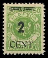 MEMEL 1923 Nr 185 Ungebraucht X89C862 - Memel (Klaïpeda)