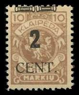 MEMEL 1923 Nr 183 Ungebraucht X89C866 - Memel (Klaïpeda)