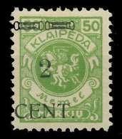 MEMEL 1923 Nr 177III Ungebraucht X89C86E - Memel (Klaïpeda)
