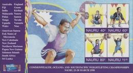 Nauru SG MS 475 1998 Weightlifting Championship, Miniature Sheet, Mint Never Hinged - Nauru