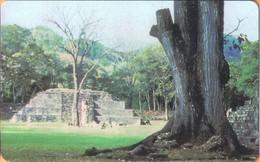 Honduras - HN-HND-CHP-0001A, Maya Temple, First Issued,  1HONEPB, Monuments, Trees, 250 U, Used - Honduras