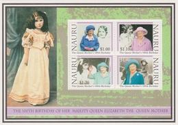 Nauru SG MS 514 2000 Queen Mother 100th Birthday, Mint Never Hinged - Nauru