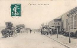 BOU-TLELIS BOUTLELIS LA RUE NATIONALE DILIGENCE CAFE ANIME ORAN ALGERIE - Oran