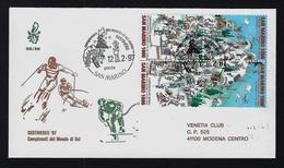 """1997 SAN MARINO """"CAMPIONATI MONDIALI DI SCI / SESTRIERE '97"""" FDC VENETIA - FDC"""