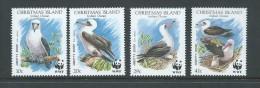 Christmas Island 1990 WWF Booby Bird Set 4 MNH - Christmas Island