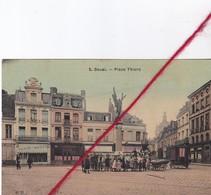 CP 59  - DOUAI -  Place Thiers  -    Carte Toilée - Douai