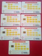 PLDT  Tarsier Chipcards   7  Different Exp Dates - Philippines