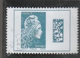 FRANCE 2018 MARIANNE L ENGAGEE DATAMATRIX EUROPE OBLITERE - Oblitérés