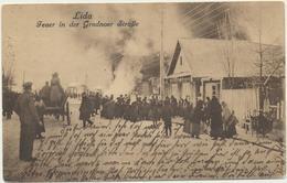 61-289 Belarus Russia Lida Feuer Grodnoer Strasse Field Post Feldpost 1916 Verlag Sluzki - Belarus