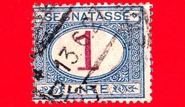 REGNO D'ITALIA - Usato - 1890 - Segnatasse - Cifra Entro Un Ovale - 1 L. - Segnatasse