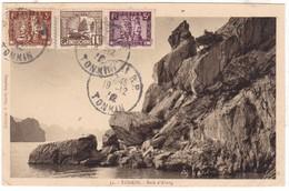 #Z.9478 French Indochine, Tonkin, Postcard Mailed 1932 TCV: Baie D' Along - Viêt-Nam