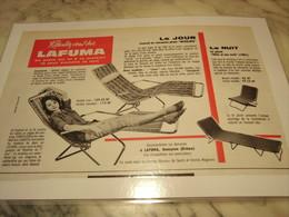 ANCIENNE PUBLICITE REPOSEZ VOUS SUR LAFUMA 1960 - Publicité