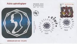 Enveloppe   FDC  1er   Jour   FERIE   ASTROLOGIQUE  :  Gémeaux   2014 - 2010-....