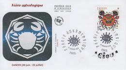 Enveloppe   FDC  1er   Jour   FERIE   ASTROLOGIQUE  :  Cancer   2014 - 2010-....