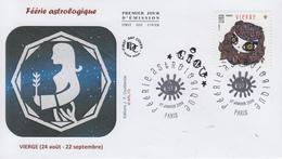 Enveloppe   FDC  1er   Jour   FERIE   ASTROLOGIQUE  :  Vierge   2014 - 2010-....