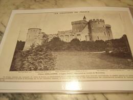 ANCIENNE PUBLICITE LES CHATEAUX DE FRANCE GUILLAUME A LIGNAC INDRE 1907 - Photographie